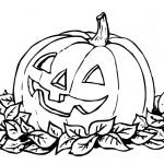 раскраска хэллоуин, раскраски тыква