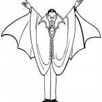 раскраска хэллоуин, раскраски вампиры
