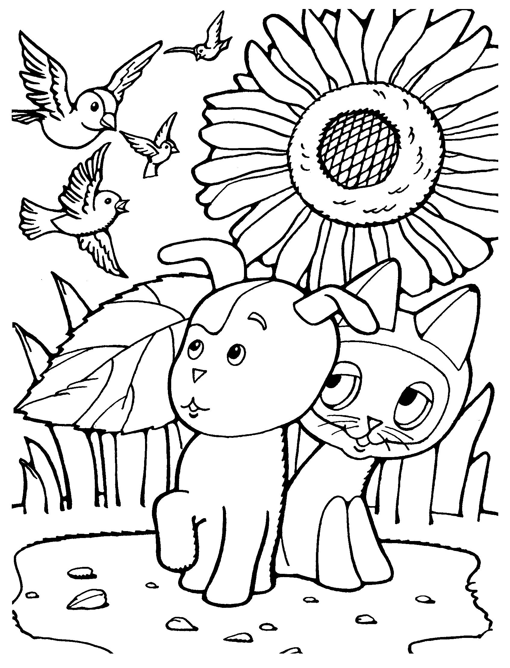 Раскраска котенок Гав. Скачать. Распечатать
