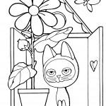 раскраска котенок гав