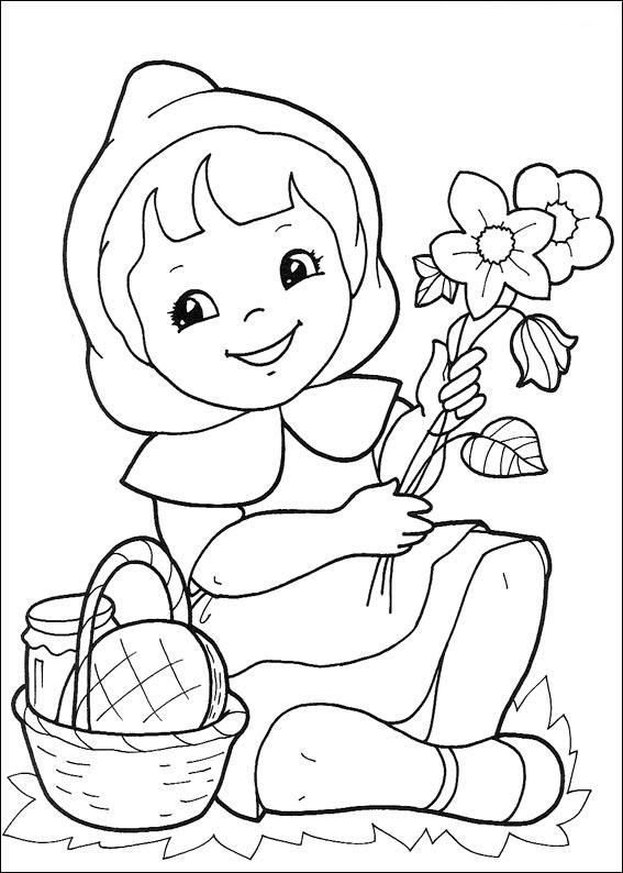 Coloring Krasnaya Shapochka20 Jpg 567 794 Piks Raskraski Risunki Skazki