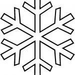 раскраска снежинки