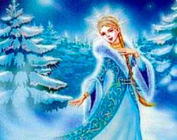 Раскраска снегурочка русская