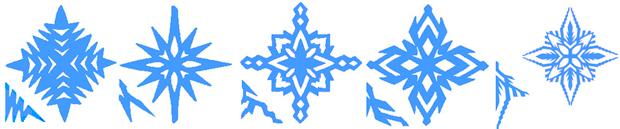 квадратная снежинка
