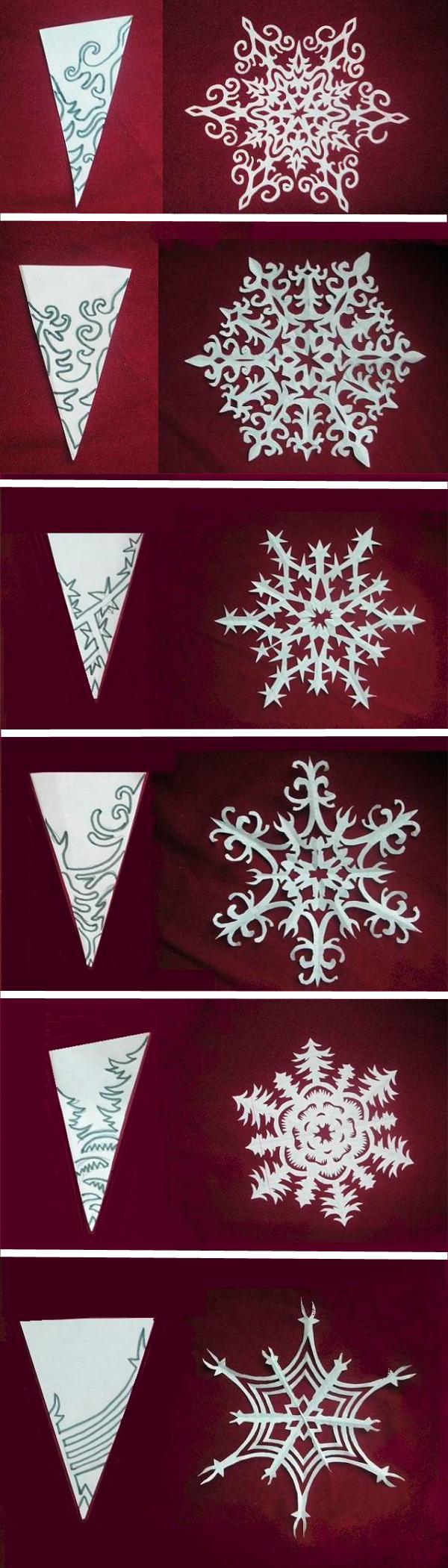 Как сделать из бумаги снежинку самую легкую
