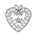 раскраска День Святого Валентина