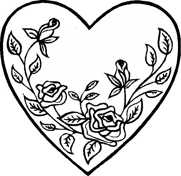 beautiful free valentines coloring pages - photo#5