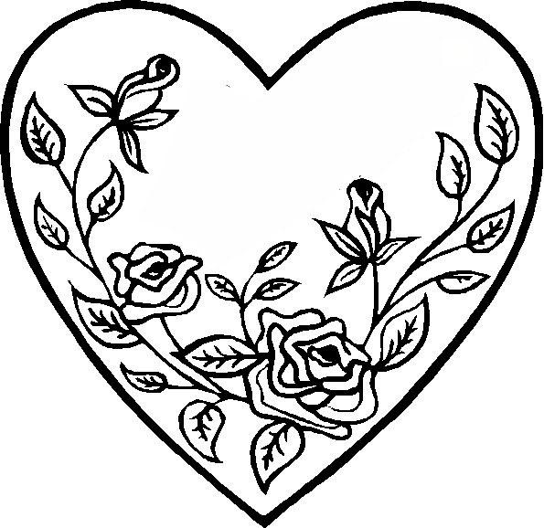 раскраска на день влюбленных, раскраска день святого валентина