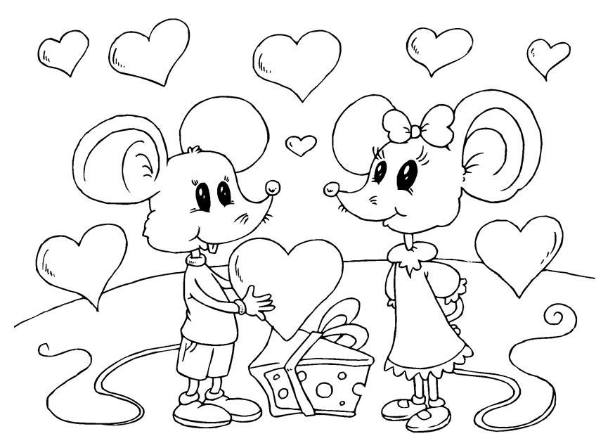 Раскраски для дня влюбленных