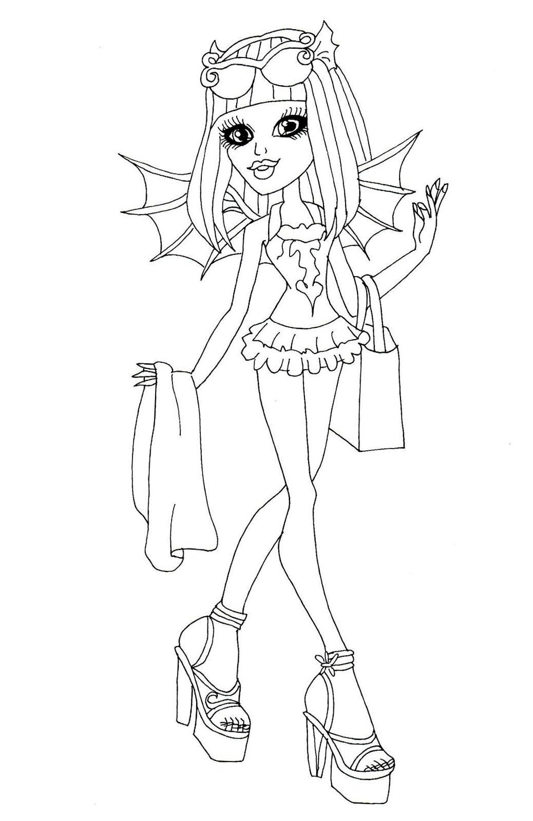 раскраска Monster High, раскраска монстр хай